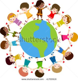 children and earth