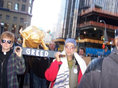 "The ""Golden Bull"" at Occupy Wall Street"