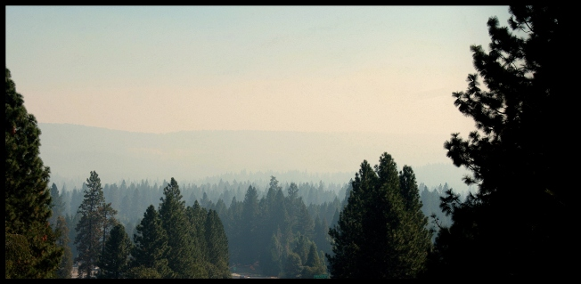 View from our deck on another smoky day