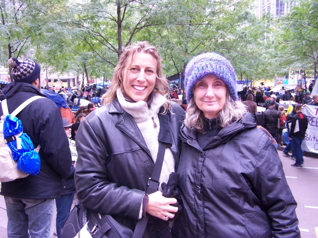 Reinette and Sharon at Occupy Wall Street